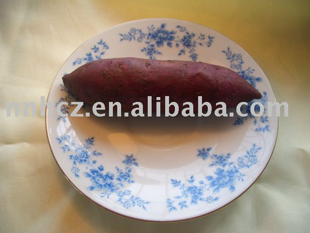 fresh purple sweet potato