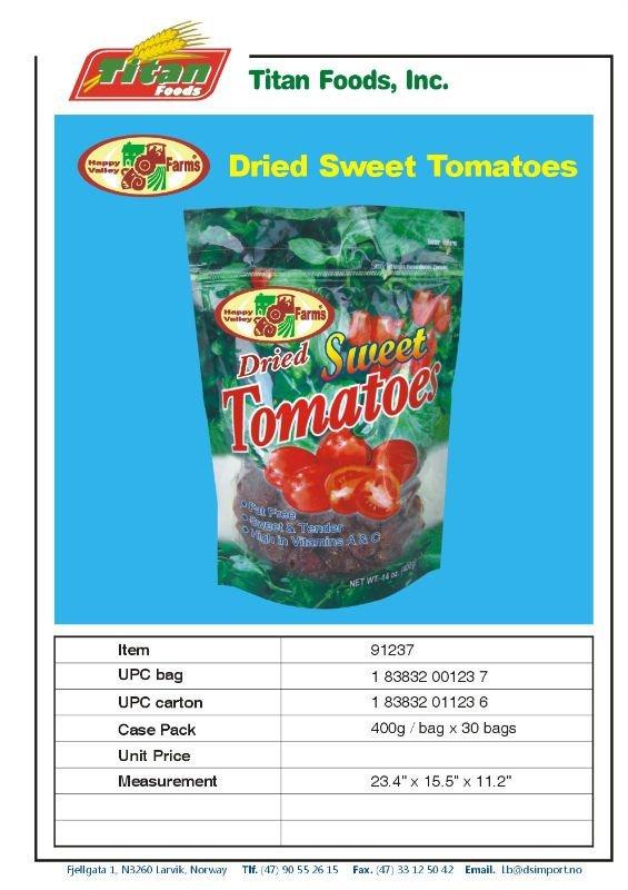 HAPPY VALLEY FARM DRY TOMATO