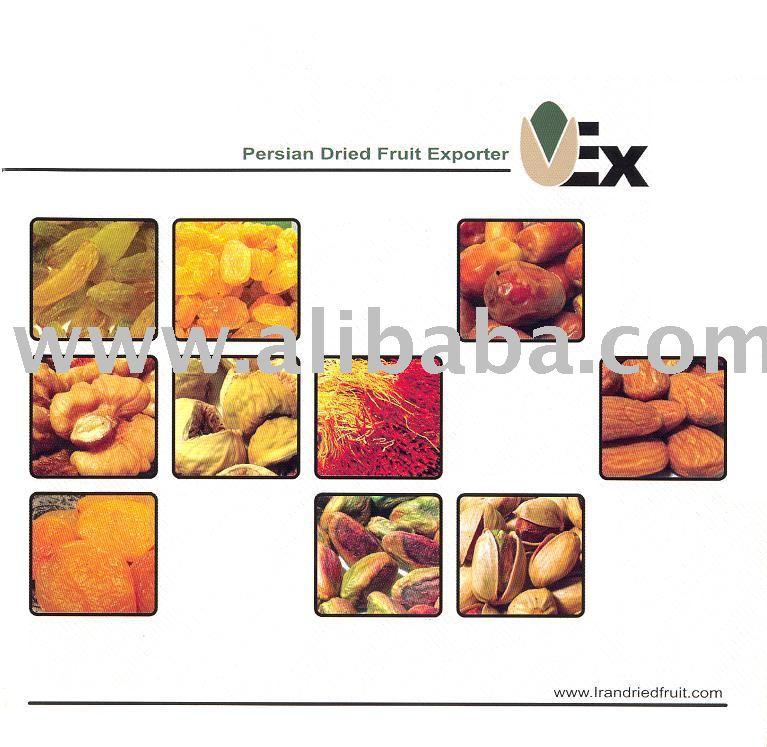 Saffron, Pistachio, Pistachio kernel, Dried Date, Raisin, Almond, Apricot, Fig