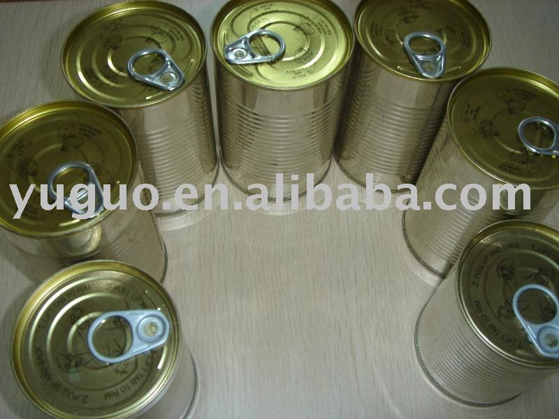 Canned orange with easy open lid