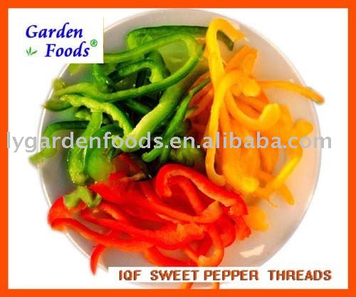 IQF yellow pepper slices