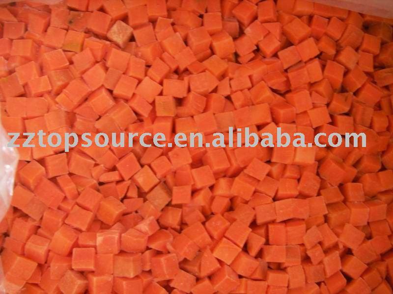 Морковь IQF Нарезанная кубиками