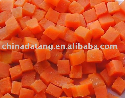 hot sale high quality IQF carrot diced