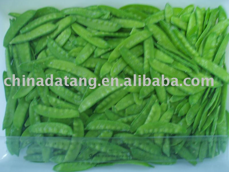 Frozen pea pods green IQF