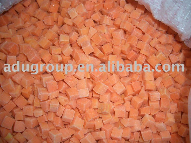 frozen carrot dices,IQF carrot dices