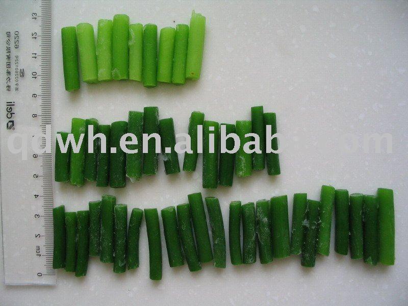 Frozen green garlic sprouts