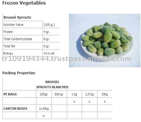 Brussels Sprout Frozen Vegetables
