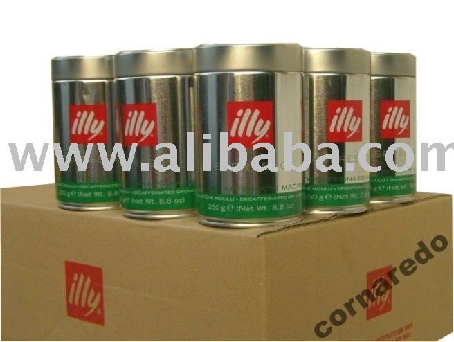 ILLY coffee Espresso Decaffeinated 250 g. Ground coffee, 100 % Arabik