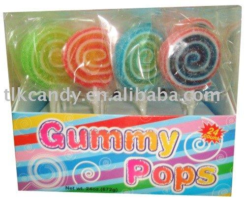 Rainbow Jelly Lollipops Candy