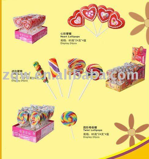 Various Lollipop Candy