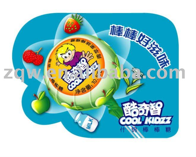 Lollipop Candy with Green Apple Flavor