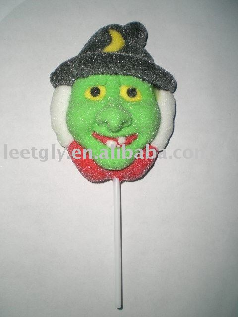 3-D decorated Halloween Marshmallow lollipop