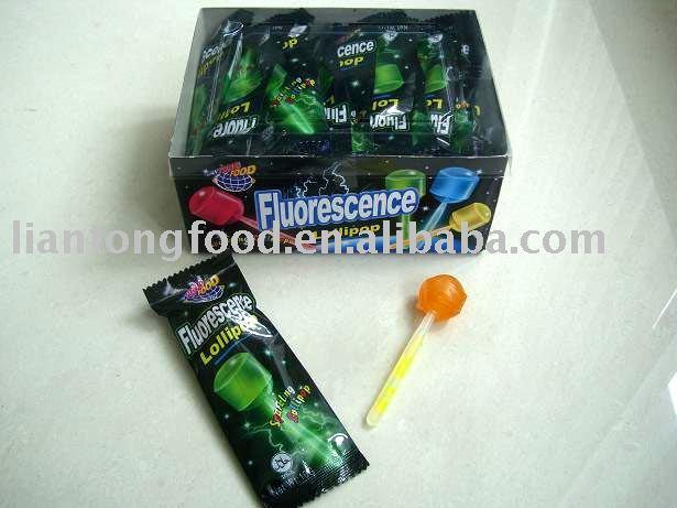 Lollipop with light stick