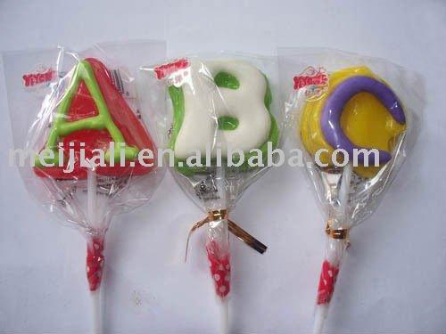 letter shape lollipop