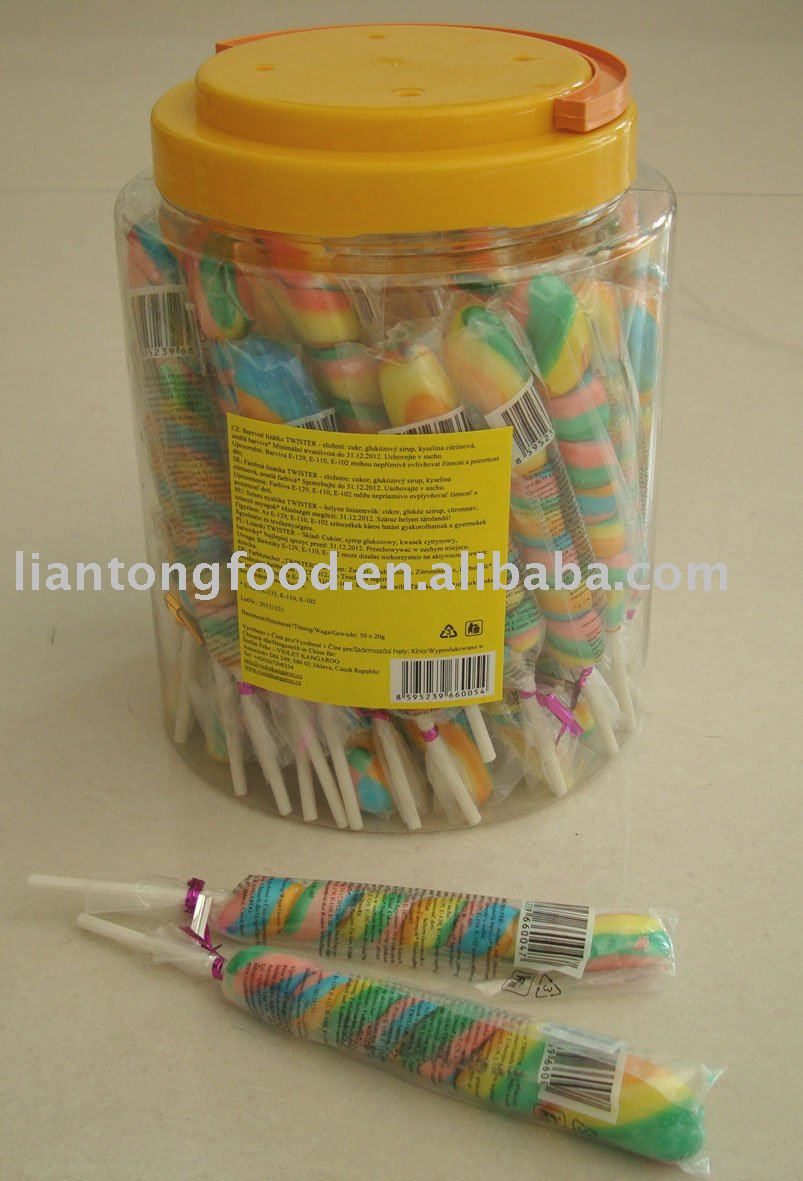 colorful rainbow stick lollipop(lollipop candy)