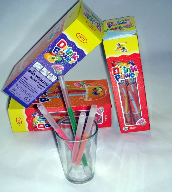 drink power fruit flavor straw candy
