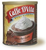 Caffe D'Vita Mocha Latte Blended Iced Coffee