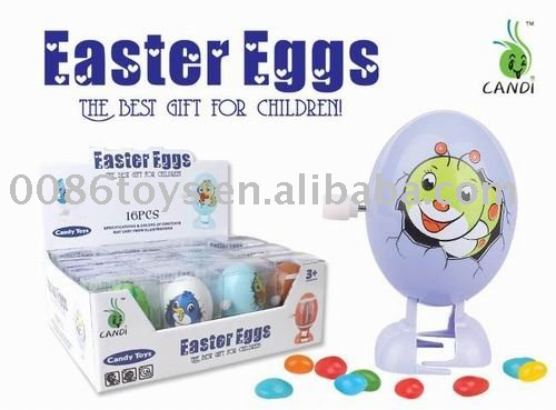 wind up easter egg candy toys