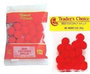 CANDIES-Red Coconut Balls