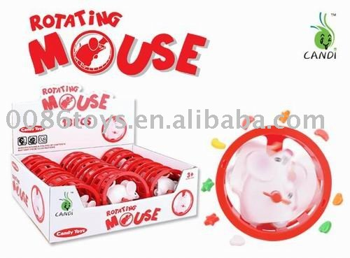 wind up rotating mouse candy toys