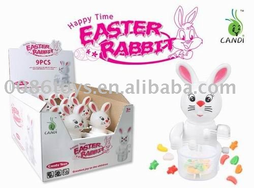 druming rabbit candy toys