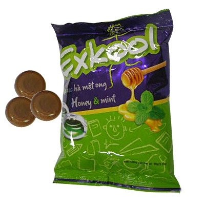 Ex-kool hard candy in plastic bag 108g honey-mint flavour