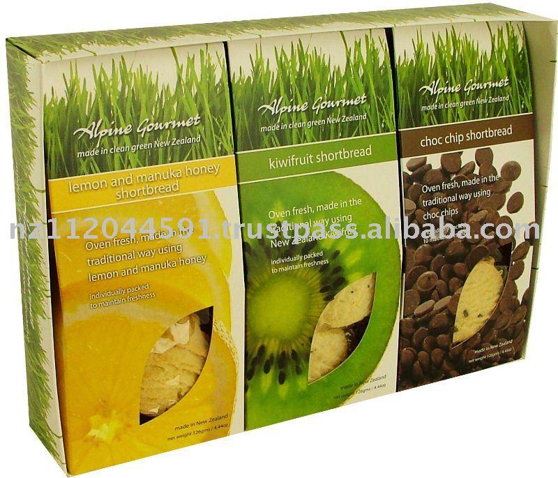 Gift Boxes Manuka Honey,Kiwifruit Choc Chip, Shortbread