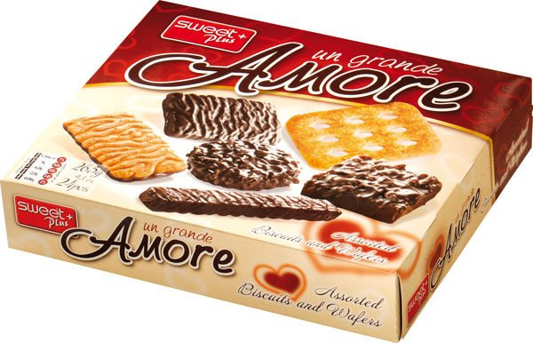 Assorted biscuits and wafers UN GRANDE AMORE 265 g