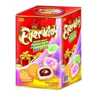 Assorted biscuit tin box EVERWINY 700 gram