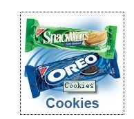 OREO Mini White Creme Chocolate Sandwich Cookies