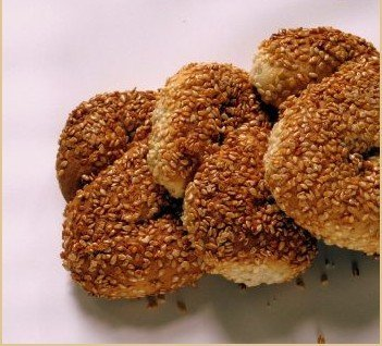 Sesame S shape Biscuits