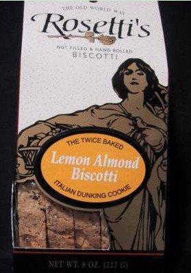 Lemon Almond flavored Rosetti Biscotti 8oz