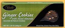 Traditional Cookies --Ginger Cookies with Sliced Almonds