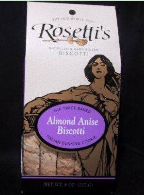 Almond Anise flavored Rosetti Biscotti 8oz