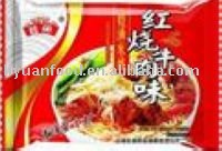 Wayu instant rice noodles of braised beef flavor
