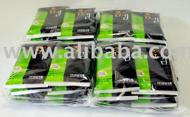 Roasted Seasoned Seaweed Crispy Laver Nori Snack (mini 8pack X 30)=240pack