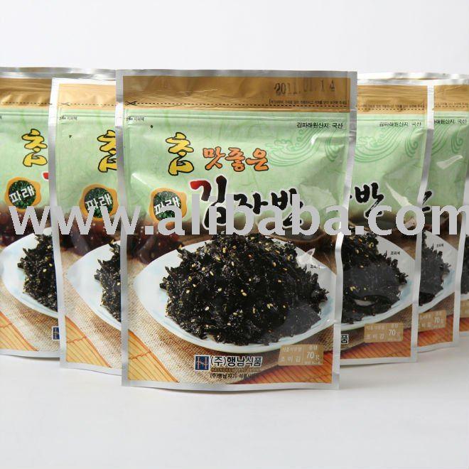 Seasoned Roasted Seaweed Salted Green Laver side dish - (70g)