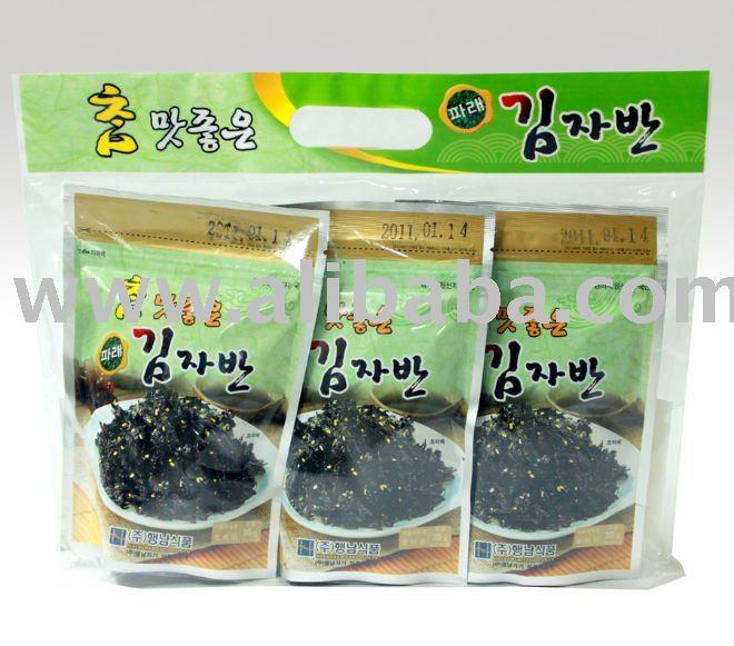 Seasoned Roasted Seaweed Salted Green Laver side dish - (35g)*3ea