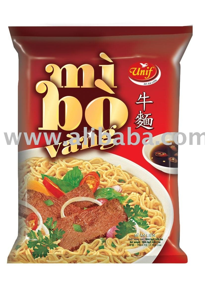 Beef Flavor Instant Noodle