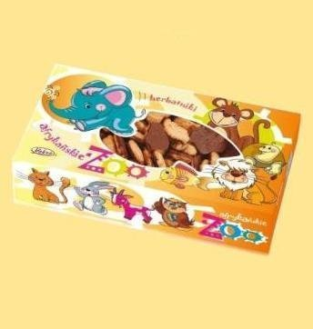 African Zoo butter biscuits in chocolate