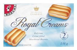 Bakers Royal Cream 250g Biscuits