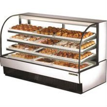 True Food Service Equipment, I TCGD-77 Curved Glass Non-Refrigerated