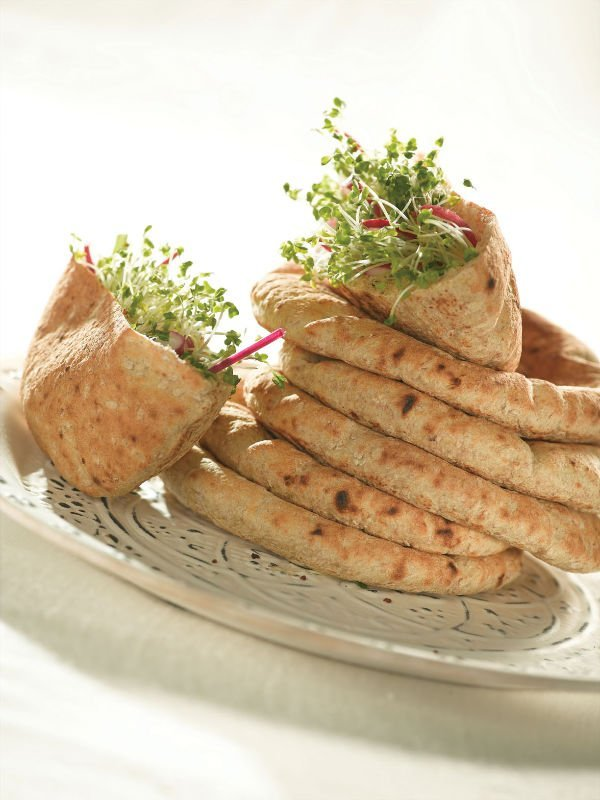 wheat and whole wheat pitas frozen food