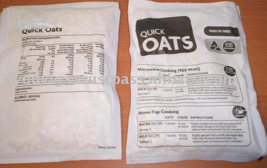 Oats Flakes  portion   pack ing in sachets OEM