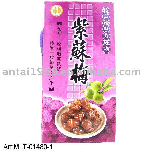 taiwan snacks sweet dried Perilla Plum