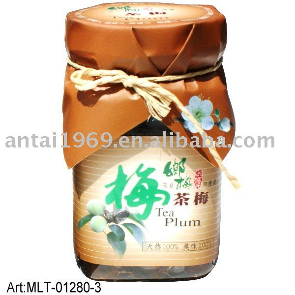 The tea plums, delicious taiwan snack