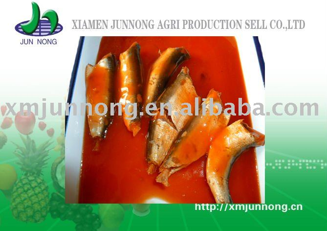 canned fish scaled sardine in tomato sauce