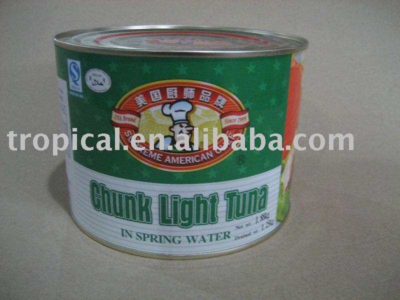 Canned chunk tuna in water 1880g