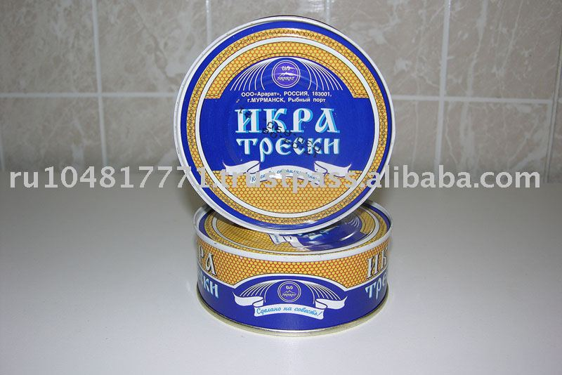 Federation cod roe is received from cutting fresh baltic cods cod roe
