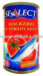 Mackerels In Tomato Sauce, Thai Thailand Food Fish Canned